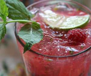 Cool off with a refreshing raspberry mojito